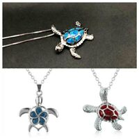 elegantes geschenk mode trendy kette schmuck sea turtle - anhänger opal - kette