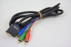 Dv Vidéo Numérique Câble Composant Noir Bonne État Import Japon 07107