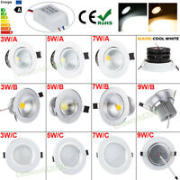 3W 5W 7W 9W 12W COB LED Recessed Ceiling Downlight Warm Cool White Fixture Light
