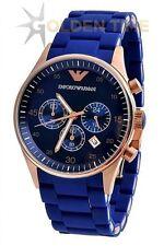 EMPORIO ARMANI AR5806 ROYAL BLUE CHRONOGRAPH MENS WATCH GIFT 2YR WARRANTY