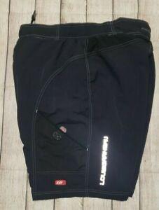 Louis Garneau Mens Baggy Cycling Padded Shorts Black XL