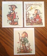 3 Vintage Hummel Friendship Greeting Cards by Hummel Art W. Germany
