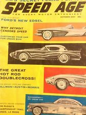 Speed Age Magazine Ford's New Edsel & Doublecross October 1957 052818nonrh