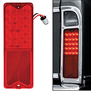 1967-72 Chevrolet Chevy GMC Truck LED Red Tail SEQUENTIAL Turn Signal Light Lens