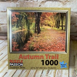 NEW Autumn Trail 1000 Piece Jigsaw Puzzle Passion Landscape Series Trees Leaves