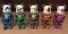 5 bearbrick 100% I Love New York - Paris -tokyo -Jaipur - Hawaï. Very Rare.