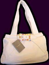 RENATO ANGI ITALY Off-White Leather NEW Large Satchel Bag