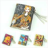 Women Genuine Leather Wallet Zipper Clutch Card Holder Purse Lady Handbag Bifold