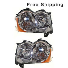 HID Head Lamp Lens and Housing Set of 2 LH & RH Side Fits Jeep Grand Cherokee