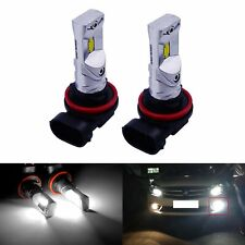 2x H8 H11 Bulbs CSP 10W LED Sidelight Fog Daytime Running Light Lamp Xenon White