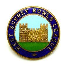 Spilla West Surrey Bowls League (Bocce) Diametro cm 2,6