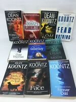 10 Book Lot: DEAN KOONTZ Horror Dark Fantasy Science Fiction Odd Thomas