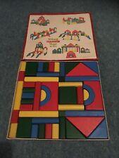 VINTAGE TRI-ANG TEACHEM TOY SET NO 3 - BUILDING BRICKS - Complete
