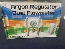 Argon Regulator Dual Co2 Flowmeter By Manatee For Tig Mig Welder Gas