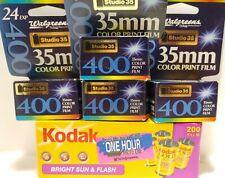 LOT Kodak Film 200 Bright Sun & Flash 96 Exp Walgreens 400 24 exp × 4 Studio 35