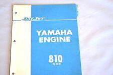 1970's Vintage Sno-Jet Snowmobile SL 338B(810) Yamaha Engine Parts Manual - (OR)