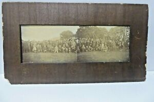 ANTIQUE PANORAMIC BLACK & WHITE PHOTOGRAPH GREYHOUND DOGS COURSING HUNTING MEET