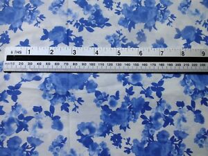 2 5 meter piece .100 % cotton poplin blue and white