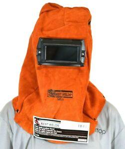 Sellstrom Best Welds 740LH Welding Leather Hood Mask w/ Shade 10 Glass Lens