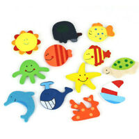 12Pcs Baby lovely Fridge Magnet Wooden Cartoon Animal Kids Educational Toys