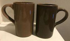 authentic Pottery Barn Studio brown coffee mugs, set of 7