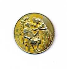 Italie - DECAMERON Giovanni Boccaccio médaille argent vermeil  50 mm