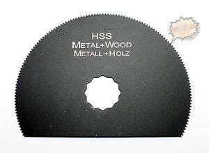 Segment Sägeblatt HSS Holz Metall 80mm Zubehör für Worx Renovator Parkside