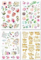 4pcs Blume Letter Printed Rub on Transfer Stickers Set Scrapbooking Card Making