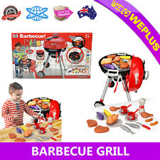Barbecue BBQ Grill Toy Outdoor Heating Picnic Charcoal Kids Pretend Play Set