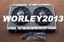 Aluminum radiator & fans for Mitsubishi Galant VR4 EC5A / EC5W 6A13TT 1996-2003