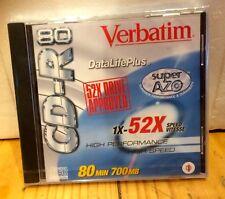39 VERBATIM INDIVIDUAL CD-R 80 DATA LIFE PLUS 52X SUPER AZO RECORDABLE DVD +R