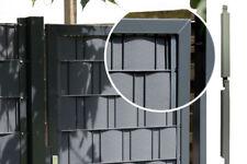 20 Befestigung Clips Klemmschinen Klemmleiste Sichtschutz Anthrazit für ZaunTore