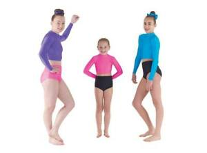 T&P Turtle High Neck Crop Top or Dance Knickers Pants Freestyle Dance Disco ADFP