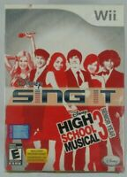 Disney Wii Sing It High School Musical 3 Senior Year INCLUDES MICROPHONE Sealed