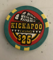 KICKAPOO INDIAN CASINO, $25 CHIP