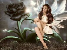BLACK ROSE FAIRY MOSAIC DIAMOND PAINTING PAINT BY NUMBERS KIT 5D CROSS STITCH