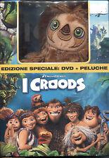I CROODS - DVD EDIZIONE SPECIALE + PELUCHE, NUOVO E SIGILLATO, ITALIANO