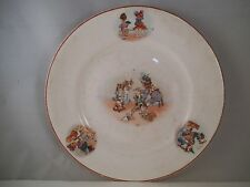 Vintage CP Co Crown Pottery Childs Plate Girl Toys