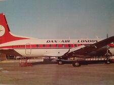 Dan-Air Hawker Siddeley postcard