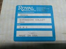 "Royal 20006 Expanding Collet Pads 3"" x 1"" Discontinued Nos"
