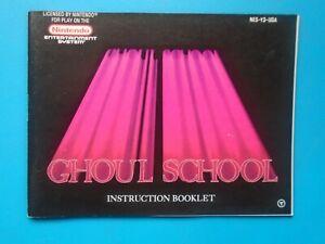 Ghoul School (Nintendo NES) Authentic Game Manual Book