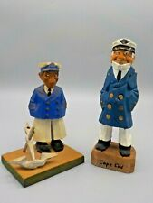 New Listing2 Hand Carved Wood Sailors Boat Ship Captains Nautical Decor
