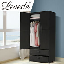Levede Portable Wardrobe Clothes Closet Storage Cloth Organizer Shelf 2 Drawers