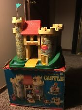 fisher price play family castle Little People Dragon King Queen Box 1974 City