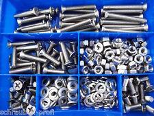 360 piezas acero inoxidable V2A TORNILLOS DIN 965 Tuercas Caja M4 M5 M6