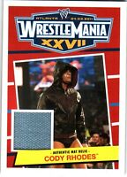 WWE Cody Rhodes 2012 Topps Heritage WrestleMania 27 Event Used Mat Relic Card