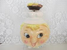 Vintage Cookie Jar~LEFTON Pixie Boy Chef w Musical Moving Cookie Hat