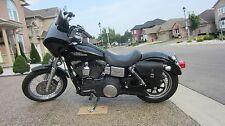 Harley DYNA LEFT Side BLACK SOLO BAG Saddlebag - DL03 BAD&G CustomS