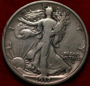 1917-D Denver Mint Obverse Silver Walking Liberty Half