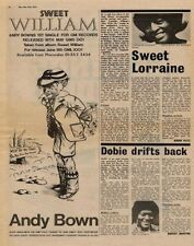 Andy Bown '45 advert + Dobie Gray UK Interview 1973